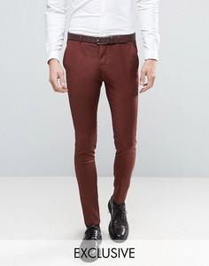 Коричневые супероблегающие брюки Heart & Dagger - Коричневый