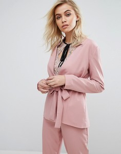 Блейзер с поясом Fashion Union - Розовый