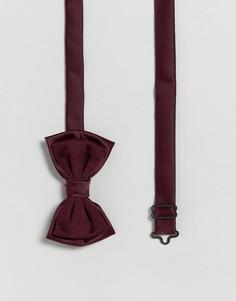 Бордовый двухслойный галстук-бабочка ASOS - Красный
