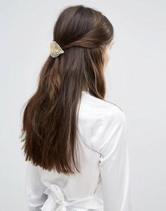 Заколка для волос с листиками DesignB - Золотой