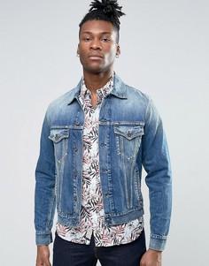 Выбеленная джинсовая куртка Pepe Jeans - Синий