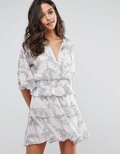 Платье мини с оборками Stevie May Soft Love - Мульти