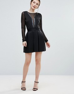Короткая расклешенная юбка Amy Lynn - Черный