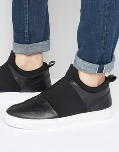 Кроссовки с эластичной вставкой Zign - Черный