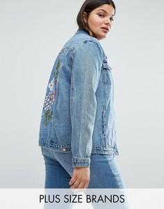 Джинсовая куртка с цветочным принтом Alice & You - Синий