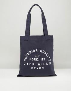Темно-синяя сумка-тоут Jack Wills - Темно-синий