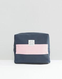 Синяя косметичка с розовой полоской Jack Wills - Мульти