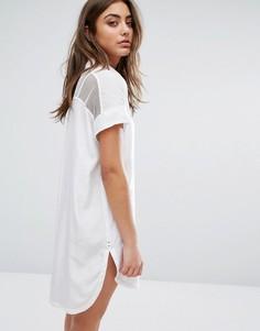 Рубашка на пуговицах с короткими рукавами Hilfiger Denim - Белый