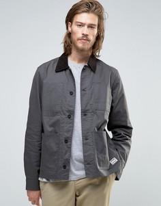 Серая вощеная куртка Element Union Chore - Черный