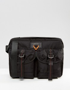 Черный портфель в стиле милитари Diesel - Черный