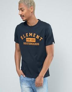 Темно-синяя футболка с логотипом Element - Темно-синий