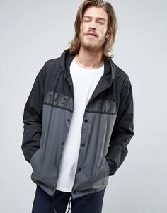 Черная куртка-ветровка с капюшоном и логотипом Element - Черный