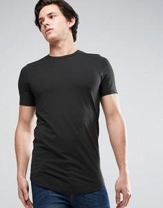 Длинная обтягивающая футболка Jack & Jones Core - Черный