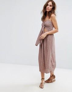 Платье миди с принтом Flynn Skye - Розовый