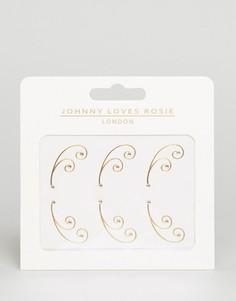 Декоративные татуировки для глаз металлик Johnny Loves Rosie - Золотой