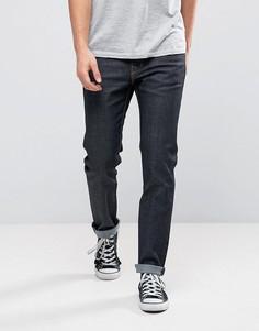 Синие джинсы слим из необработанного денима WeSC Eddy - Синий