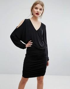Платье с вырезами на плечах Gestuz Pen - Черный