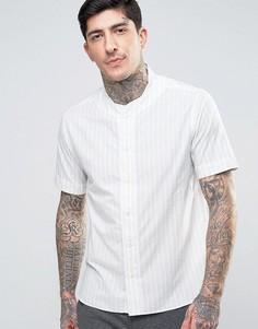 Бейсбольная рубашка в двойную полоску YMC - Кремовый