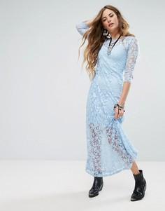 Платье макси с вышивкой Glamorous - Синий