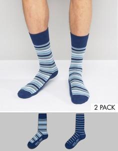 2 пары синих носков в полоску Levis - Синий Levis®