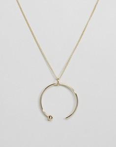 Ожерелье с подвеской в виде незамкнутого кольца Pieces Hanna - Золотой