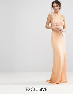 Платье-трансформер длины макси TFNC WEDDING - Оранжевый
