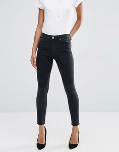 Черные выбеленные джинсы cкинни ASOS RIDLEY - Черный