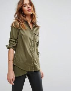 Длинная рубашка Sisley - Зеленый