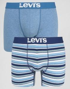 Набор из 2 синих боксеров-брифов в полоску Levis - Синий Levis®