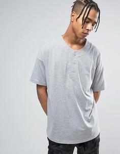 Серая меланжевая oversize-футболка ASOS - Серый