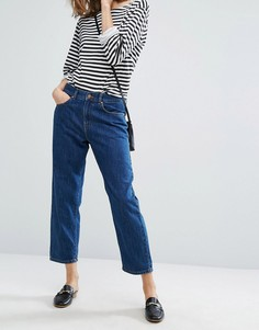 Укороченные свободные джинсы с классической талией Dr Denim Haze - Синий