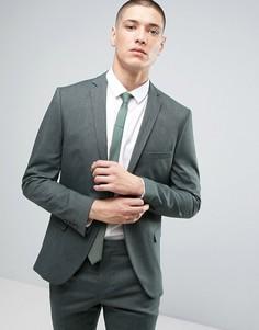 Супероблегающий пиджак Selected Homme - Зеленый