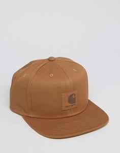 Бейсболка с логотипом Carhartt WIP - Коричневый