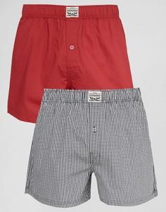 Набор из 2 тканых боксеров (красный, в клетку) Levis - Красный Levis®