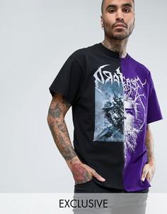 Oversize-футболка с принтом Reclaimed Vintage Inspired - Черный