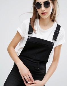 Супероблегающий комбинезон-шорты с необработанным краем Cheap Monday - Черный