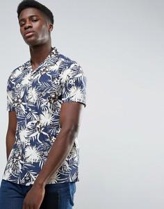Рубашка классического кроя со сплошным цветочным принтом Dickies - Темно-синий