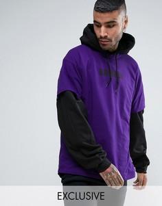 Oversize-футболка фиолетового цвета с надписью Reclaimed Vintage Inspired - Фиолетовый