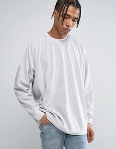 Oversize-свитшот из серого велюра ASOS - Серый