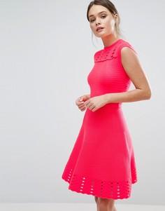 Короткое приталенное платье Ted Baker Zaralie - Оранжевый
