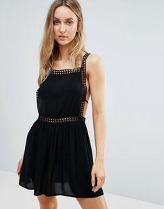 Пляжное платье с отделкой кроше New Look - Черный