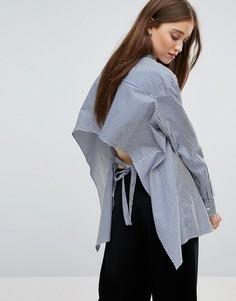Рубашка в полоску с открытой спиной Weekday - Мульти