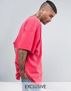 Розовая свободная футболка Reclaimed Vintage Inspired - Розовый