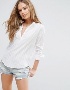 Рубашка без воротника Abercrombie & Fitch - Белый