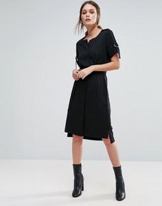Платье с поясом Selected Femme - Черный