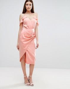 Юбка-карандаш с узлом Lavish Alice - Розовый