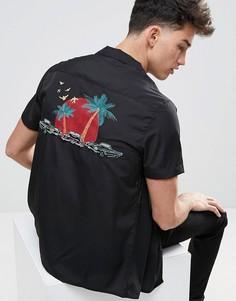 Рубашка с отложным воротником Another Influence - Черный