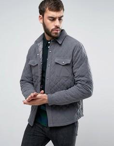 Стеганая куртка-рубашка Another Influence - Серый