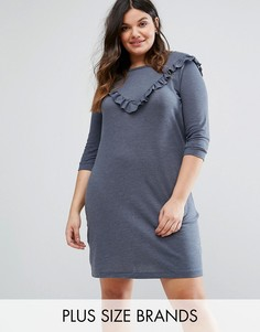 Платье-свитшот с оборкой Junarose - Синий