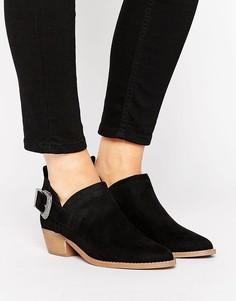 Туфли из искусственной замши в стиле вестерн New Look - Черный